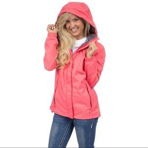 NWT Lauren James Coral Preptec Rain Jacket
